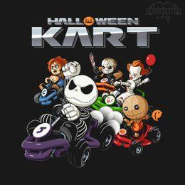 halloween kart t-shirt design