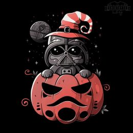 dark side pumpkin t-shirt design