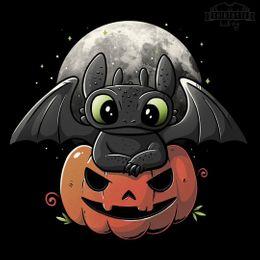 spooky dragon t-shirt design