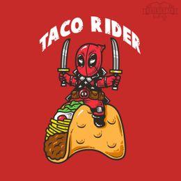 taco rider t-shirt design