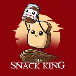 the snack king t-shirt design