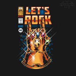 lets rock t-shirt design
