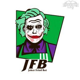 joker fried bat t-shirt design