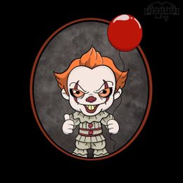 chibi pennywise the clown t-shirt design