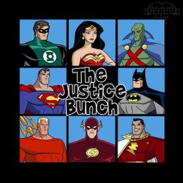 the justice bunch t-shirt design